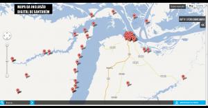 Crédito: Mapa desenvolvido em Santarém