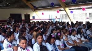 Uma semana em rosa e lilás/ Créditos: Divulgação Secretaria Estadual da Educação