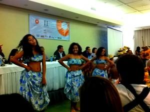 Apresentação cultural durante evento. Créditos: Agda Sardenberg