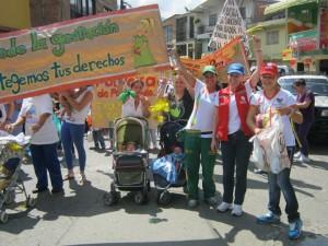 Marcha com apoio do programa pelos direitos das gestantes Foto: Reprodução