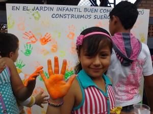 Atividade em um dos jardins infantis. Foto: Reprodução