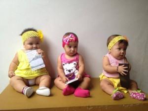 Bebês em ação do programa. Foto: Reprodução