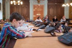 Crianças em atividade do conselho. Foto: Reprodução