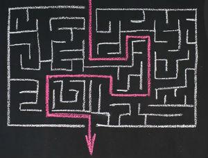 escola labirinto caminho percurso aprendizagem