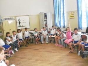 Trabalho com o amigos do Zippy na Escola em Tempo Integral Cristiano Olsen, de Araçatuba (SP)