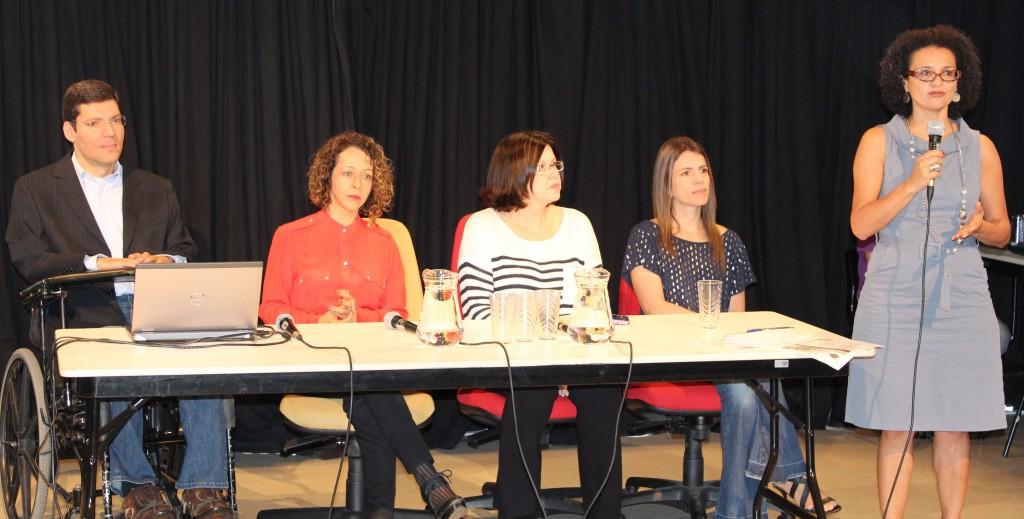 Da esquerda para a direita: Rodrigo Mendes, Marthinha Clarete, Pilar Lacerda e Iracema Nascimento.