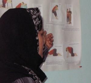 Centro de educação em saúde em uma das escolas. Foto: Reprodução