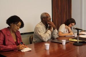 Cida Bento, Valter Silvério e Denise Carreira. Foto: Reprodução