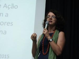 Denise Carreira durante Seminário.