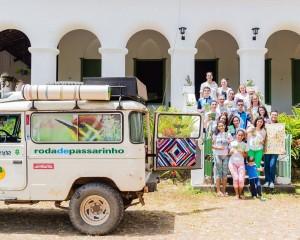 Alunos participam de atividade educativa para conhecerem as aves da caatinga nordestina. Créditos: divulgação