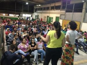 Estudantes participam de palestra sobre machismo