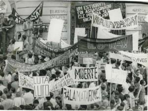 Estudantes foram protagonistas na luta contra a ditadura militar. PH FOT 554 24
