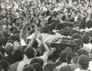Enterro do estudante secundarista Edson Luís morto pela Ditadura Militar. Arquivo Nacional. Correio da Manhã PH FOT 55427