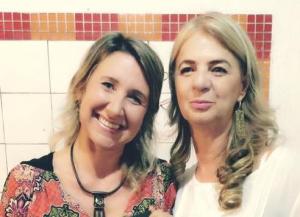 Georgya Correa, à esquerda, e Rosa Bertholini são as diretoras do Teia Multicultural. Crédito: divulgação