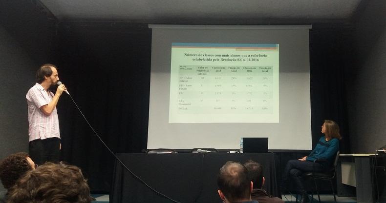 Os pesquisadores Leonardo e Ana Paula apresentam os resultados da Nota Técnica