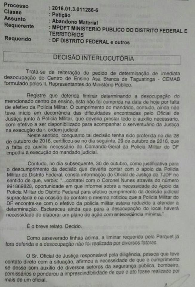 Decisão interlocutória autoriza repressão a secundaristas com uso de força militar, privação de alimentação e do sono
