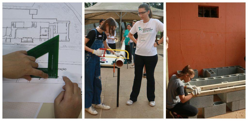 crianças projetam implementação de cisternas nas escolas e depois participam da instalação