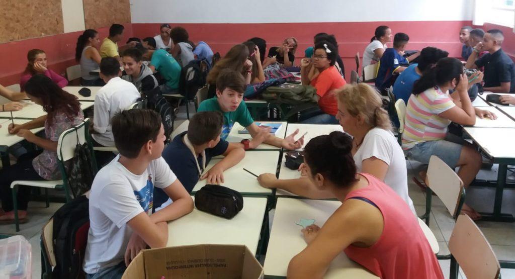 Durante uma semana, os alunos de Tremembé experimentaram novos agrupamentos
