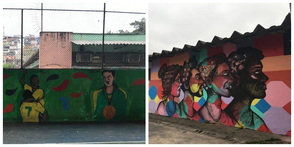 Murais feitos pelos estudantes